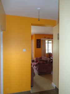 Internal photo of a house in Nairobi showing Decorative finishes
