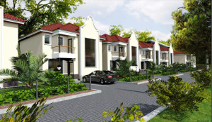 Architectural view of houses in Kitengela - controlled development